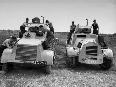 Men Overhauling Armoured Cars at Curragh Camp