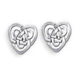 Celtic Knot Heart Earrings