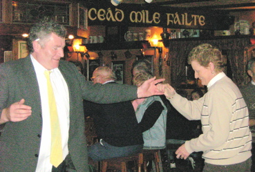 Dancing at O'Carolan's Pub