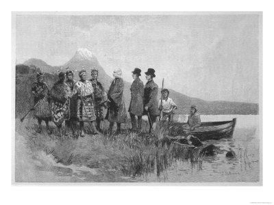 Samuel Marsden Lands in the Bay of Islands(North Island) and is Met by Native Maoris