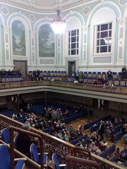 The inside of the Ulster Hall