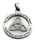 Irish Blessing Trinity Knot Pendant