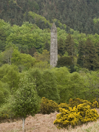 The 6th Century St. Kevin Monastery, Glendalough, County Wicklow, Leinster, Republic of Ireland