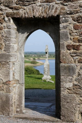 Shannon River and High Cross Clonmacnoise