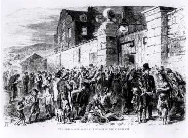 The Irish Famine: Scene at the Gate of the Work-House, circa 1846